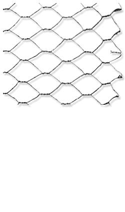 Ballierungsdraht - Rohes Sechseck Maschinengeflecht 150 cm / Masche = 50 mm