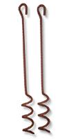 Erdanker mit Spirale Länge: 84 cm&lackiert, Spiral-Ø 8 cm
