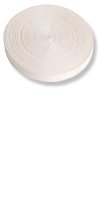 Baumwollband 33 mm&Farbe: weiß
