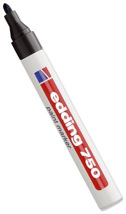 Stifte & Marker - Edding 750 schwarz Strichbreite 2,0 - 4,0 mm
