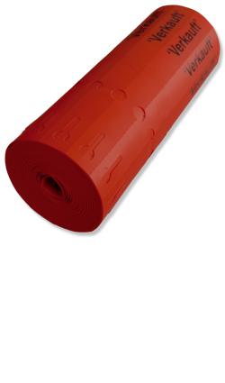 Etiketten - Schlaufen-Ettiketten 20 x 2,0 cm / Farbe: rot