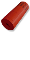 Schlaufen-Ettiketten&20 x 2,0 cm / Farbe: rot