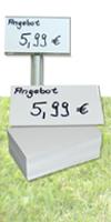 Einlegeetiketten für Stand-Ettiketten&Schildgröße: 6 x 10 cm