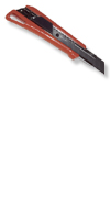 Cuttermesser, aus Kunststoff&Farbe: rot