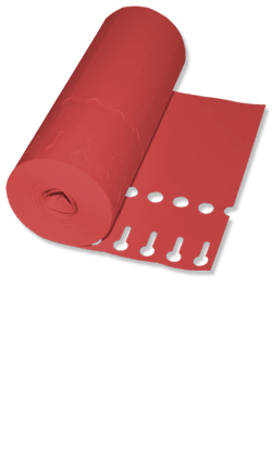 Etiketten - Schlaufen-Ettiketten 16 x 1,3 cm / Farbe: rot