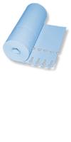Etiketten - Schlaufen-Ettiketten 16 x 1,3 cm / Farbe: blau