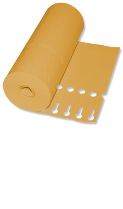 Etiketten - Schlaufen-Ettiketten 16 x 1,3 cm / Farbe: orange