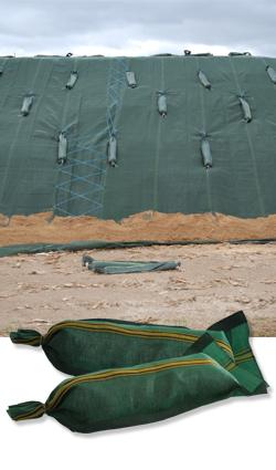 Sandsack aus Polyethylen 27 x 60 cm, grün