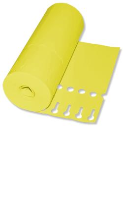 Etiketten - Schlaufen-Etiketten 20 x 2,0 cm / Farbe: gelb