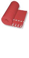 Etiketten - Schlaufen-Etiketten 20 x 2,0 cm / Farbe: rot