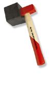 Plattenlegerhammer mit Eschenstiel&auswechselbarer Gummiaufsatz