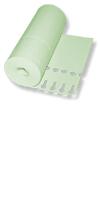 Schlaufen-Ettiketten&12,5 x 1,3 cm  Farbe: grün