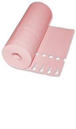 Etiketten - Schlaufen-Etiketten 16 x 1,3 cm Farbe: rosa