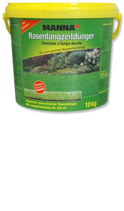 Manna Rasenlangzeitdünger Für eine optimale Rasenentwicklung